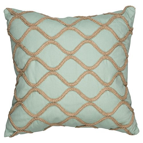 Lattice Sleigh Bed (Feather Filled Decorative Pillows - Jute Lattice Throw Pillow for Couch, Chair Bed or)