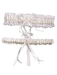 Aurora Bridal® Wedding Accessories Lace Garter for Bridal Ivory