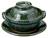 Oribe for 1person 5.9inch Donabe Japanese Hot pot Green Ceramic Made in Japan