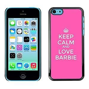 Caucho caso de Shell duro de la cubierta de accesorios de protección BY RAYDREAMMM - Apple iPhone 5C - Calm And Pink Motivational Funny
