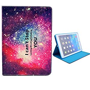 YW (TM) Flip Protective Stand Hard Case Hybrid PU Leather TPU Armor Cover For Apple iPad Air iPad 5 with One Piece Random Color Stlye Dress up Sticker Gift - Starry Universe