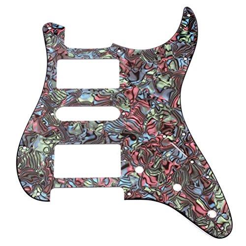 WINOMO Guitar Pickguard Pickups ,Electric 11 Hole for Fender Strat Stratocaster Guitar Parts Multicolor