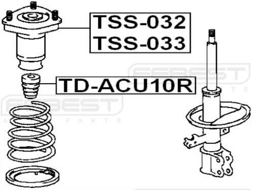 4875048010 - Right Rear Shock Absorber Support For Toyota - Febest