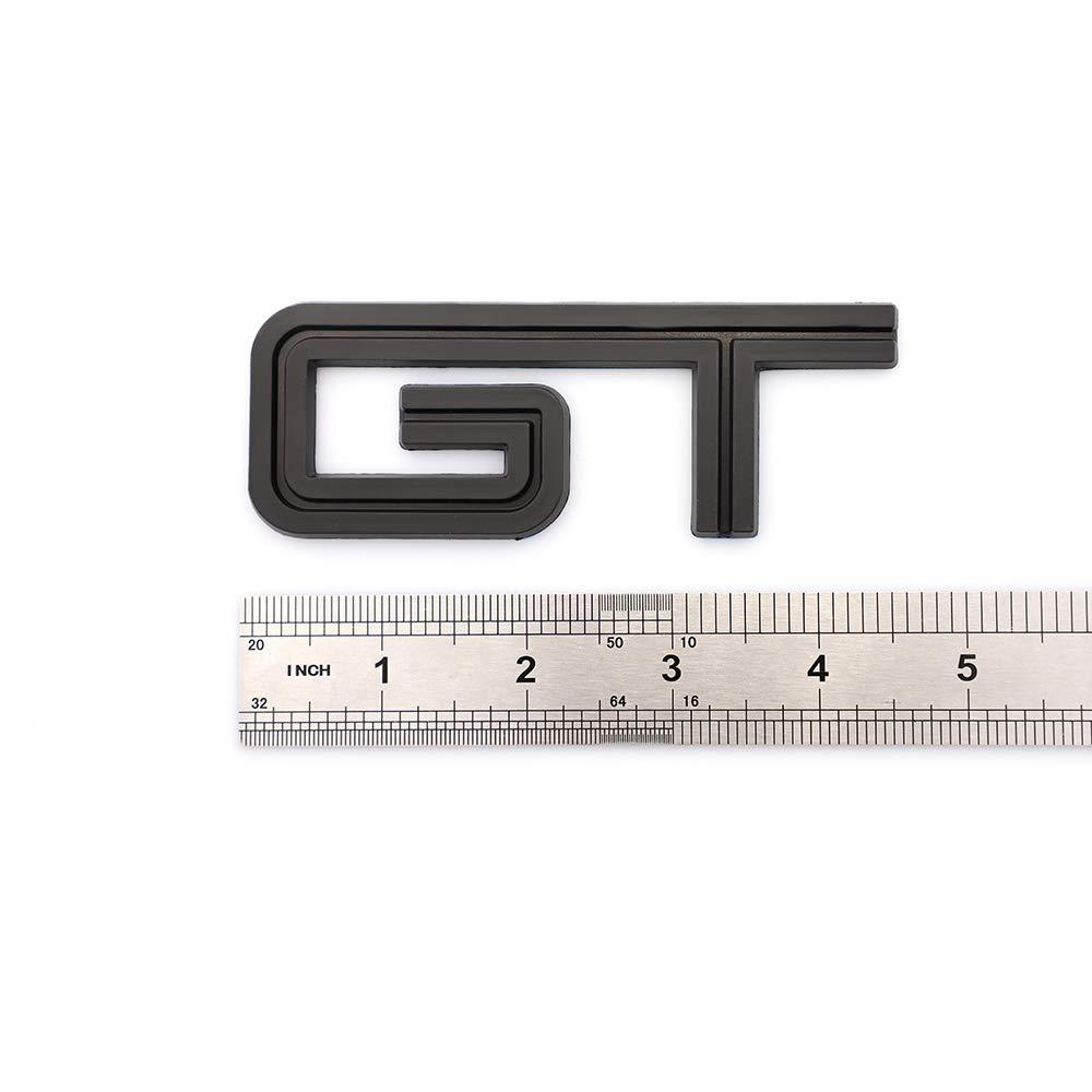 3D GT Emblem Fender Trunk Side Tailgate Decal Badge For Mustang Black