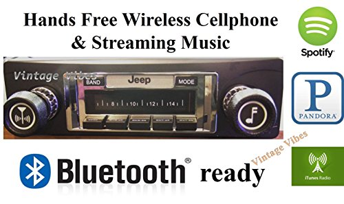 Bluetooth Enabled 1978-1986 Jeep CJ & Scrambler 300 watt AM FM Car Stereo/Radio