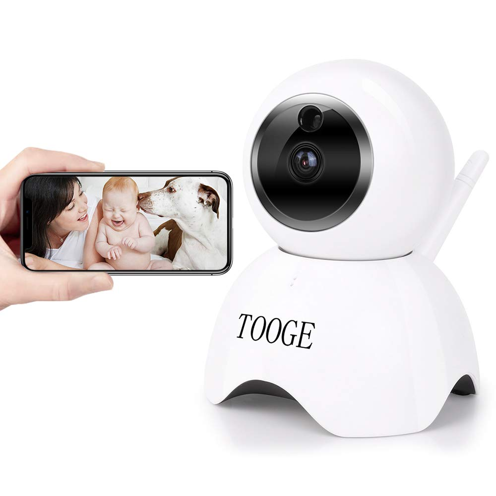 WiFi Pet Dog Camera TOOGE Pet Monitor Indoor Home Cat Camera for Baby Elder Nanny Motion Detection Night Vision 2-Way Audio