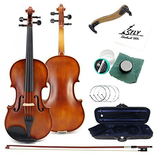TLY Antique Solid Wood Handmade Matt Varnish Violin for Beginners