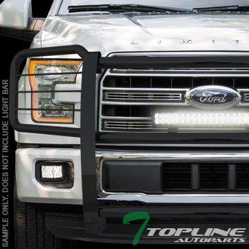 Topline Autopart Black Steel Brush Push Bumper Grill Grille Guard Cover HD 15-16 Ford F150 Pickup - Bully Brush Guard