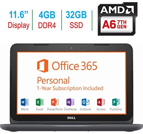 "2018 Newest Dell Premium 11.6"" Laptop PC, 7th Gen AMD A6-922"
