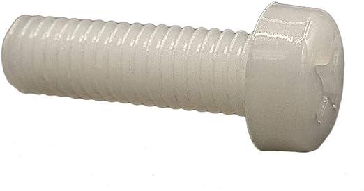 Nylon M6 x 35mm Pan Head Phillips Screws Plastic Machine Screws Black