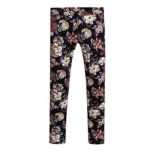 - Mens Pants Slim Fit Flat Front Plaid Stripe Comfort Suit Pant Dress Trousers (X-Small(30W × 29L), Picture Color 1)