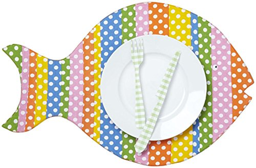 Two's Company Cupcakes & Cartwheels Go Fish Placemat