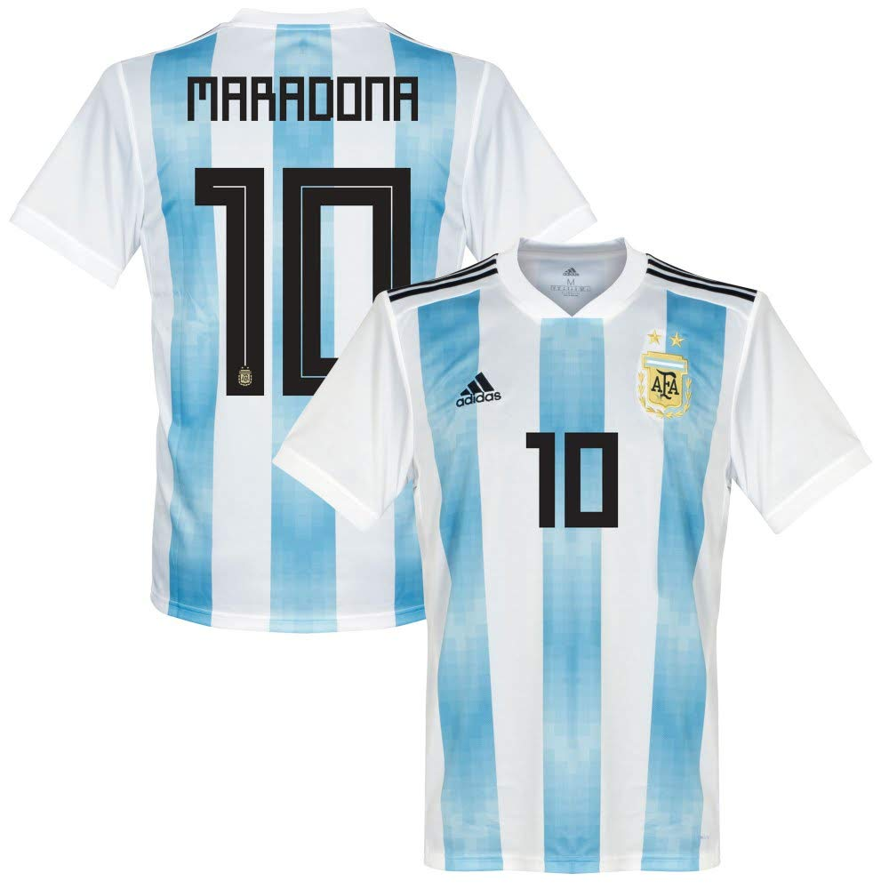 Argentinien Home Trikot 2018 2019 + Maradona 10