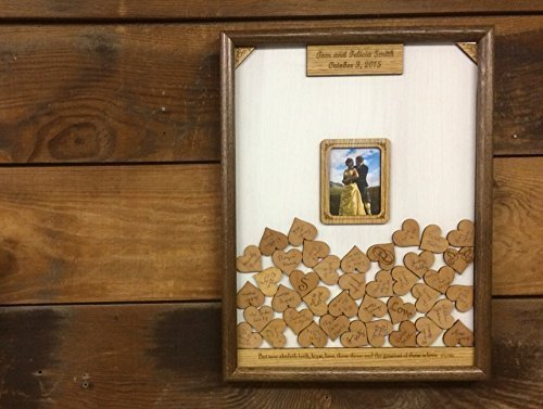 16x20 Wedding Guest Book Alternative, Drop Box Guest Book Frame, Personalized Guest Book Drop Hearts Picture Frame