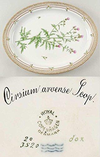 ロイヤルコペンハーゲン フローラダニカ(1790-1960) オーバルサービングプレート Cirsium arvense Scop 1 [並行輸入品]   B0132GZYWW