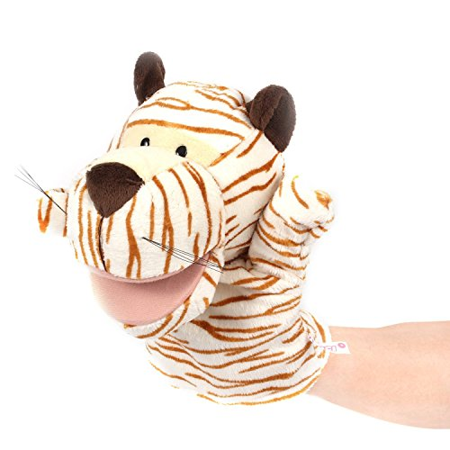 [Zetti Hand Puppet Zoo Animal Role-play Toy - Tiger] (Costume Puppet Strings)