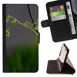 For Sony Xperia Z2 D6502 Case , Naturaleza Hermosa Forrest Verde 82- la tarjeta de Crédito Slots PU Funda de cuero Monedero caso cubierta de piel
