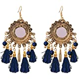 Sitashi Fashion Jewelry Mirror and Tassel Earrings For Girls and Women