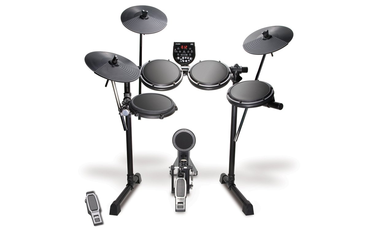 Alesis DM6 USB Kit | Eight-Piece Compact Beginner Electronic Drum Set with 8'' Snare, 8'' Toms, & 12'' Cymbals