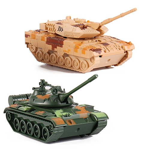 Liberty Imports T-55 Diecast Metal Military Pullback Model Battle Tanks with Lights and Sound (2-Pack) (Best Main Battle Tank In The World Today)