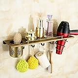 OLQMY-Stainless Steel Bathroom, Make-Up Table, Washing Gargle, Cup Rack, Hairdryer Frame, Air Intake Rack, Multi-Function Shelf