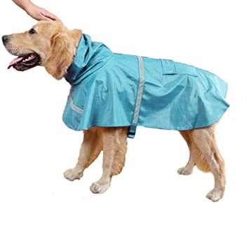Ducomi neón – Impermeable Perro Talla pequeña, Mediana y Grande – Capa de Lluvia para