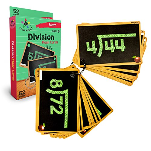 Geosafari Card Set - Star Right Education Division Flash Cards, 0-12, 52 Cards, with 1 Ring, for Ages 6 and up