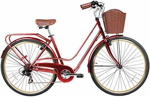 Gama Bikes Women's City Avenue Step-Thru 7 Speed Shimano Commuter Road Bicycle, 17