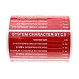 Tyco Electronics TE Connectivity PPF-62749-1 Solar System Characteristics Vinyl Label (100 Pack)