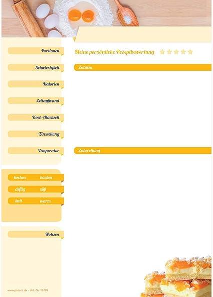 "PRICARO Rezeptordner mit Rezeptblock /""Zutaten/"" A4"