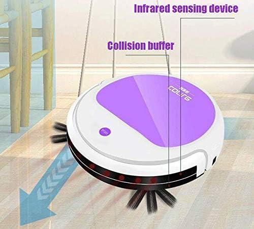 WANGXIAO Aspirateur Robot,1200pa Aspiration Forte Recharge Automatique Plusieurs Modes De Nettoyage Mouvement Libre Nettoyer Les Poils d\'animaux.
