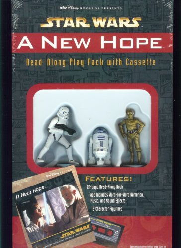Star Wars A New Hope Read Along play pack with Cassette W/ R2D2 C 3PO Stormtrooper (Star Wars Read Along Cassette)