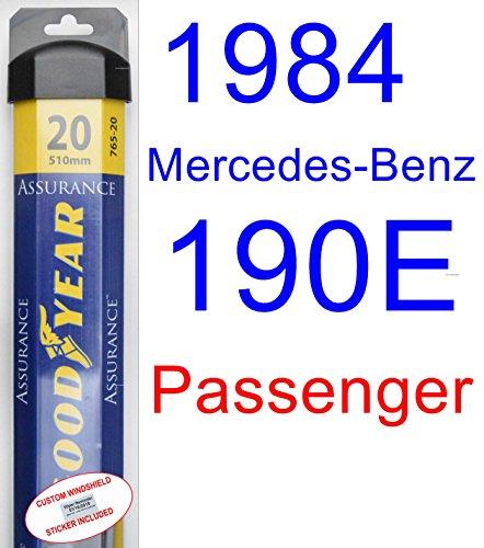 1984 Mercedes-Benz 190E Wiper Blade (Passenger) (Goodyear Wiper Blades-Assurance) ()