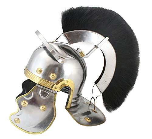 Roman Armor Set Costumes (WellPackBox Roman Centurion Plume Helmet With Liner Wearable Armor (Black Plume))
