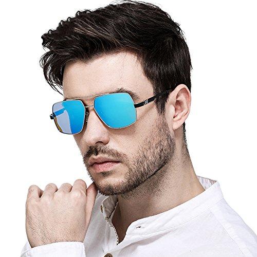 Gafas Gafas Glasses De box Driving Uv Sol Silver Para Decoración Driving ice Silver De Polarized Hombres Sol Box blue Outdoor Ice Redondas LLZTYJ Blue Gafas Wind Cumpleaños Driver Sunglasses Regalos Male aq0n6