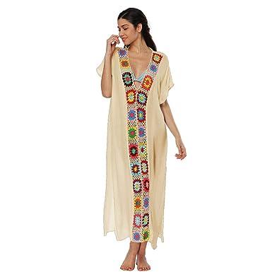 72b3b3e2f1 Rvxigzvi Womens Beach Bikini Cover Swimsuit Coverups Sun Protective  Swimwear Dress at Amazon Women's Clothing store: