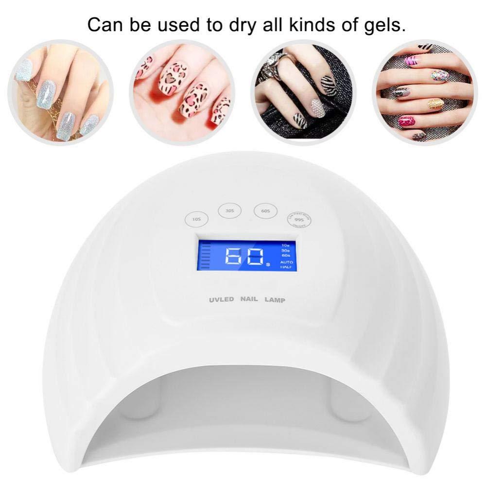 Nails Art & Tools Rational Toenail Double Led Uv Nail Lamp Dryer 3 Timer Senor For 48w Nail Cure Polish Gel