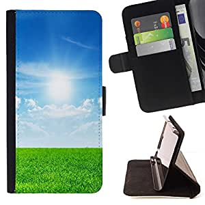 Momo Phone Case / Flip Funda de Cuero Case Cover - Naturaleza Hermosa Forrest Verde 30 - Samsung Galaxy S6 Active G890A