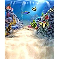 5x7ft Fond Studio Photo Underwater World Colorful Fish For Newbaby Background Backdrop