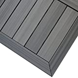 NewTechWood QD-OF-LG QuickDeck Composite Deck Tile Outside Corner Trim, 2-Inch x 1-Feet, Westminster Gray, 2-Piece