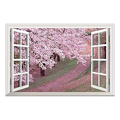With a Professional Touch, Dazzling Design, Wallpaper Large Wall Mural Series ( Pink Cherry Blossom Spring)