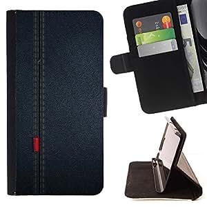 Momo Phone Case / Flip Funda de Cuero Case Cover - Patrón Seam pa?o de la tela Dise?o Textil - Huawei Ascend P8 (Not for P8 Lite)