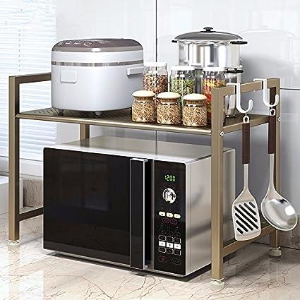 WJIANLL Cocina Horno Microondas/estante estante/Microondas/Rack Rack/estante multifuncional encimera
