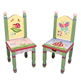 Fantasy Fields - Magic Garden Thematic Kids Wooden 2 Chairs Set | Imagination Inspiring Hand Crafted & Hand Painted Details | Non-Toxic, Lead Free Water-based Paint