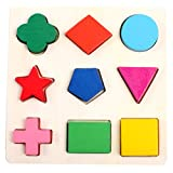Child Early Teaching Colorful Geometry Plate Shape Cognition Puzzle