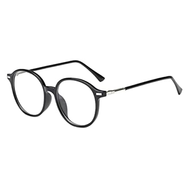 77b7cab3c5f Haodasi Round Frame Short Sight Eyeglass Nearsighted Myopia Glasses CR-39  Resin Lens -1.0~-6.0 with Glasses Box (These are not reading glasses)  ...