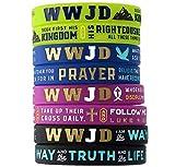(12-pack) WWJD Teachings of Jesus Bracelets