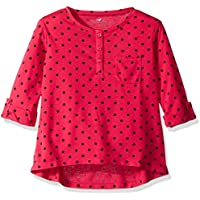 Scout + Ro Girls' Three-Quarter Sleeve Dot Tunic with Pocket