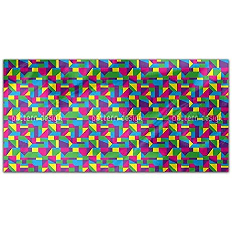 Colorful Glass Windows Rectangle Tablecloth Large Dining Room Kitchen Woven Polyester Custom Print