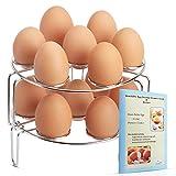 Instant Pot Egg Rack, Steamer, Trivet for Pressure Cookers, Fits...